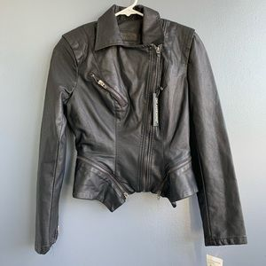 Pleather biker jacket